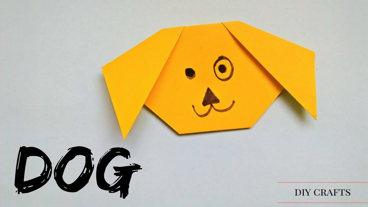 Origami dog face how to origami - Origami For Kids Origami Dog Tutorial Very Easy Easy Origami Dog Face Tutorial For Kids
