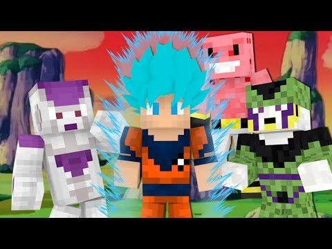 Minecraft: COMO SERIA SE GOKU TIVESSE VIRADO SUPER SAYAJIN BLUE EM DRAGON BALL Z?