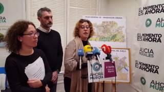 Angeles Micol explica acciones de Ahora Murcia contra el PGOU