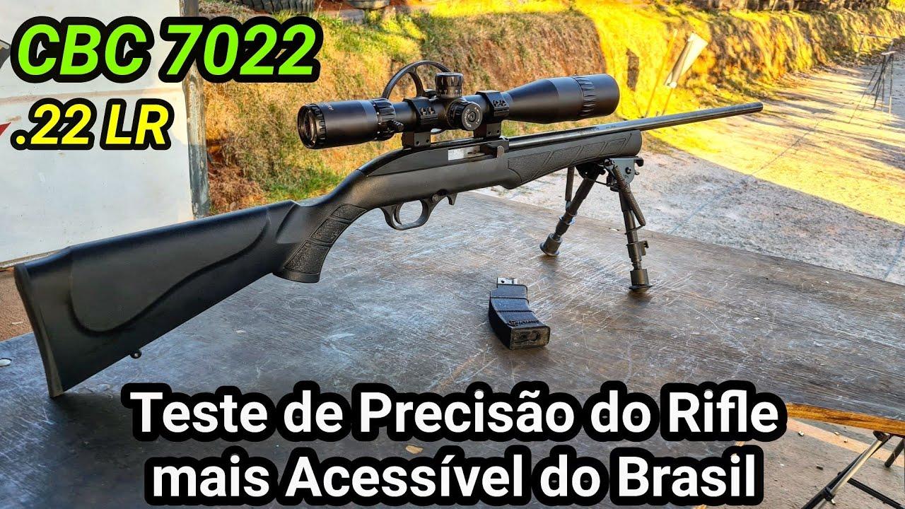 CBC 7022 Teste de Precisão à 100 Metros com o Rifle mais Acessível Nacional .22 LR - Silhueta