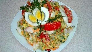 Вкуснейший салат с  яиц за 15 минут