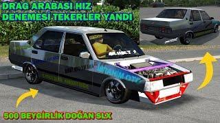 LFS 500 Beygirlik Drag Arabası Doğan Slx !!!!!TEKERLER YANDI