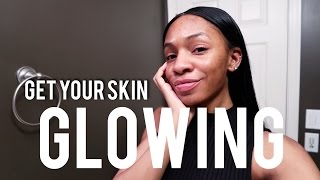 How I Get GLOWING CLEAR SKIN! Get Rid of Acne, Dark Spots, and Pores ▸ VICKYLOGAN