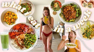 What   Eat During The Week - As An Actual  Ntuitive Eater Vegan Easy Meals Grocery Haul