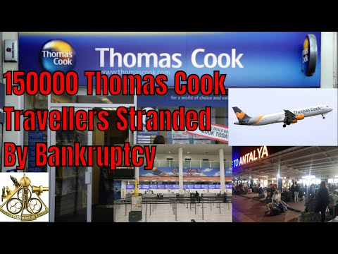 Breaking News! 150,000 Travellers Stranded By Thomas Cook Bankruptcy UK Gov Charters 40 Jets
