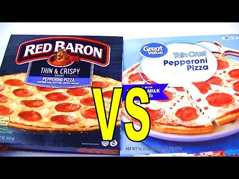 red-baron-vs-walmart-pepperoni-pizza,-foodfights-asks-what-is-the-best-brand-of-frozen-pizza-to-buy