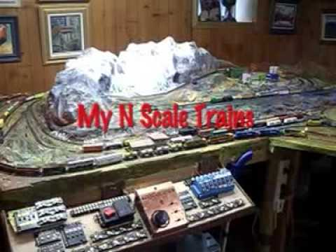 Finished N scale train set