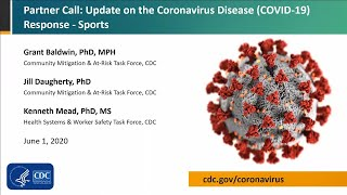 CDC Partner Update on COVID-19: Sports Programs - June 1, 2020