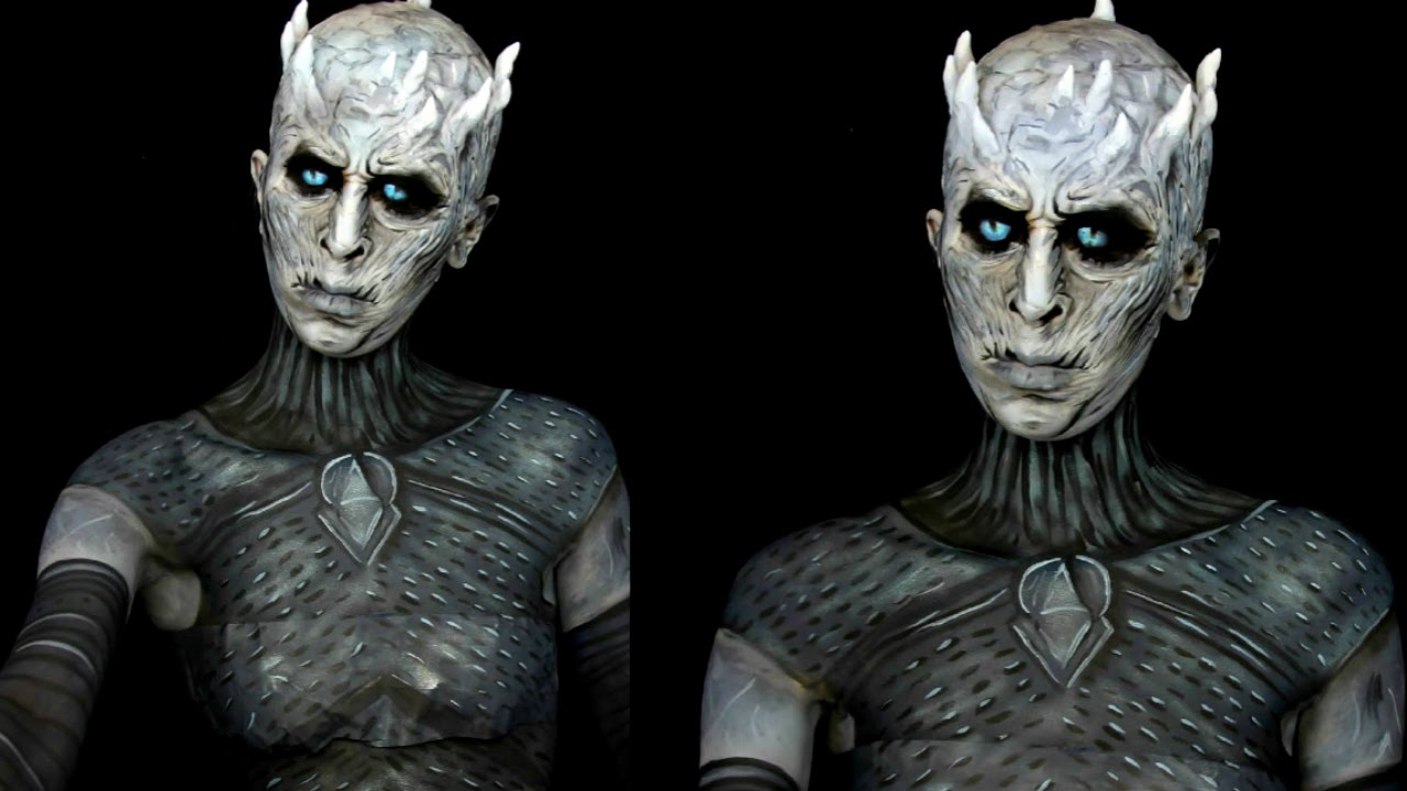 Game of thrones nights king white walker makeup tutorial youtube baditri Images