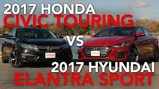2017 Honda Civic Touring vs. 2017 Hyundai Elantra Sport