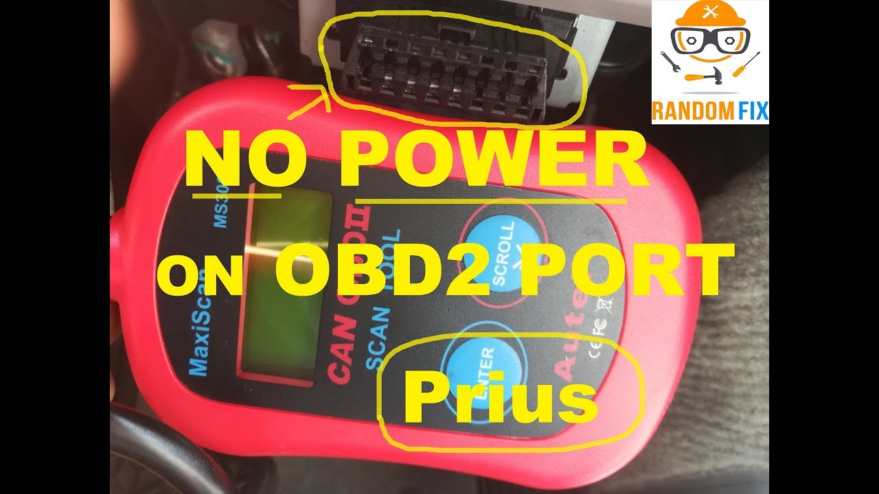 ▶️Toyota Prius OBDII OBD2 Port NOT working, How to check fuses, Solution  and FIX INCLUDED