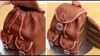 3D Chocolate Backpack Cake | REALISTIC Cakes That Looks Like Everyday Objects