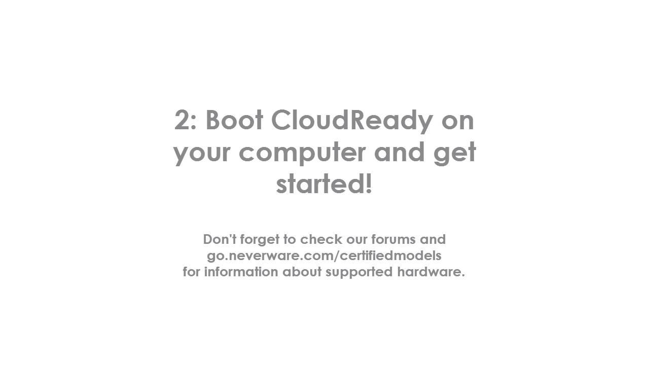 CloudReady Installation Tutorial - 2016
