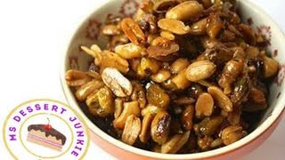 SPICY CHILLI AND BEER NUTS RECIPE - Snack Food  | MsDessertJunkie