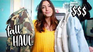 FALL CLOTHING HAUL!!! + shop with me!!