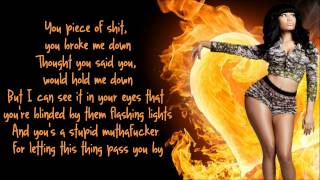 Repeat youtube video Nicki Minaj - Fire Burns Lyrics Video