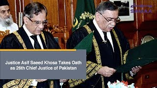 Justice Asif Saeed Khosa Takes Oath as 26th Chief Justice of Pakistan | SAMAA TV | Jan 18, 2019