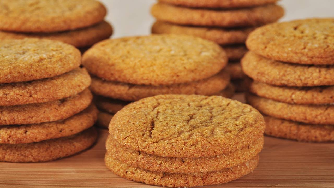 Ginger Cookies Recipe Joyofbaking Com Video Recipe