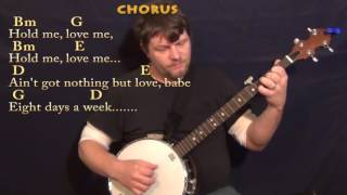 Eight Days A Week (The Beatles) Banjo Cover Lesson with Chords/Lyrics