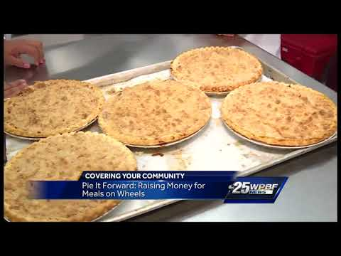 Pie it forward: raising money for meals on wheels