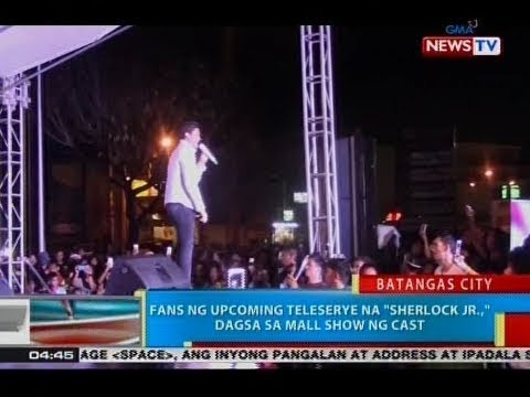 """BP: Fans ng upcoming teleserye na """"Sherlock Jr.,"""" dagsa sa mall show ng cast"""