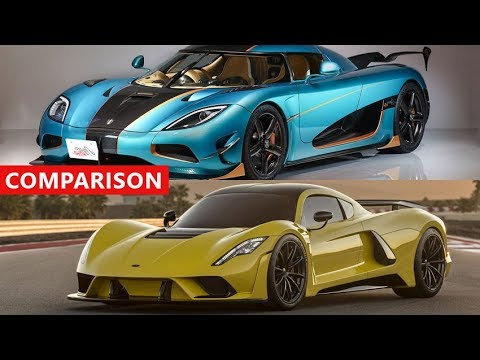 2019 Hennessey Venom F5 vs Koenigsegg Agera RS Comparison – The Fastest Cars Ever !