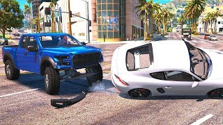 High Speed Crashes with Real Cars #2 - GTA V REDUX (Ultra Settings)