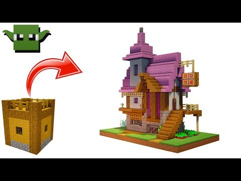Minecraft Alchemist's House Tutorial (EASY 5X5 BUILDING SYSTEM)