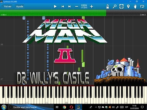 Dr. Wily's Castle 1 (Mega Man 2)-Synthesia-VideoGames sheet music