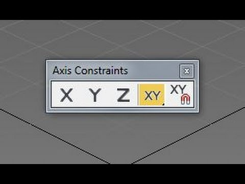 3ds Max: Axis Constraints