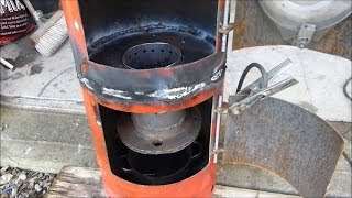 Make A Great Waste Oil And Wood Burning Stove Heater (part 3)