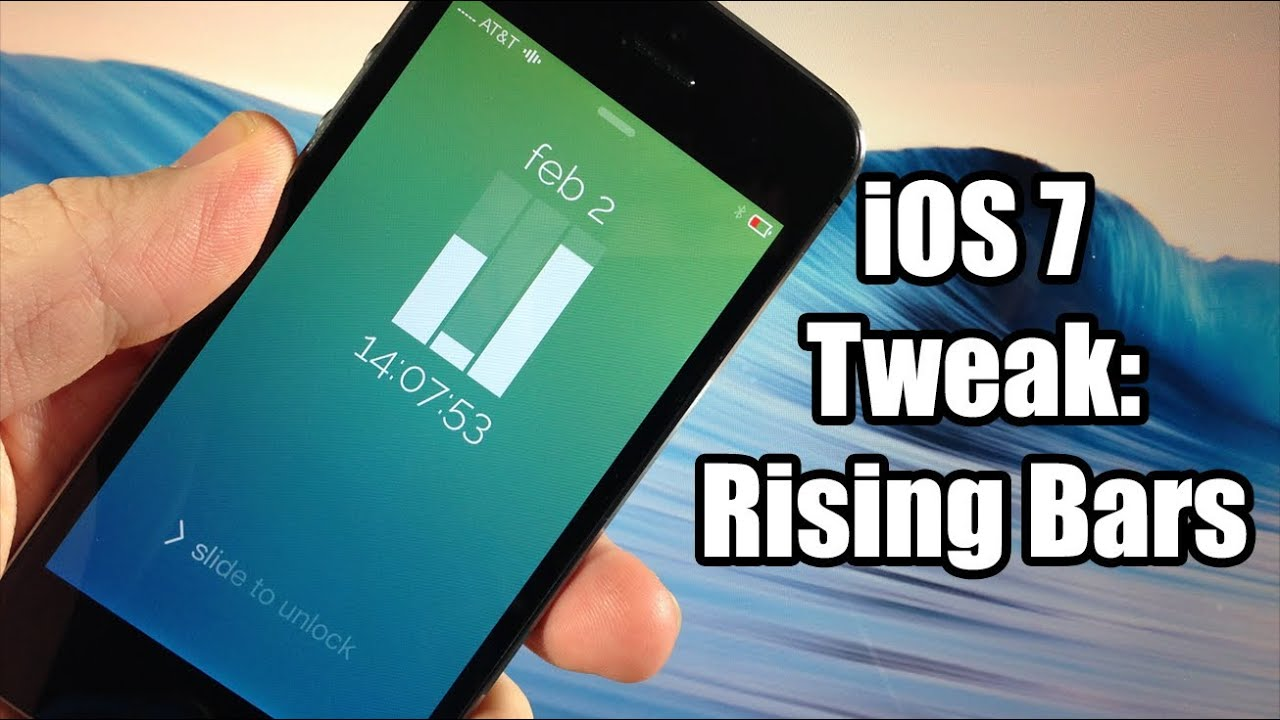 Ios 7 Jailbreak Tweak Ios7 Rising Bars Cydget Free Youtube