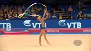 Stephani SHERLOCK (GBR) 2015 Rhythmic Worlds Stuttgart - Qualifications Ribbon