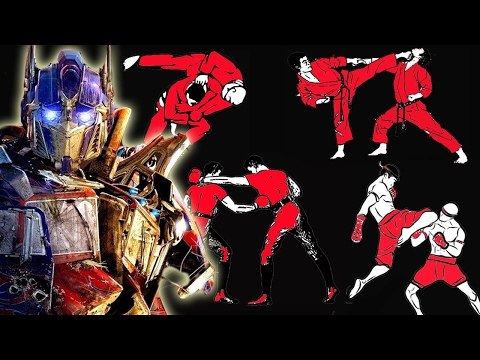 How many fighting styles does Optimus Prime know in Transformers: The Last Knight?
