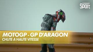 Chute à haute vitesse de Fabio Quartararo - GP d'Aragon