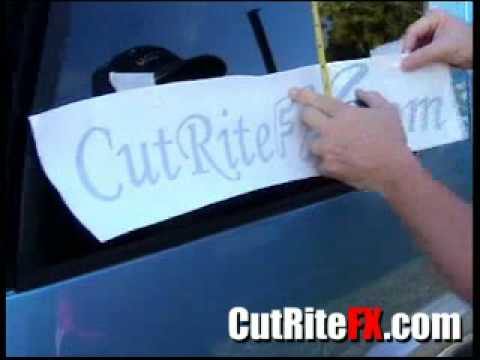 Applying Window Decals CutRiteFXcom YouTube - Car window clings custom