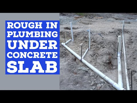 Rough In Plumbing Before Concrete Slab Pole Barn House EP 4