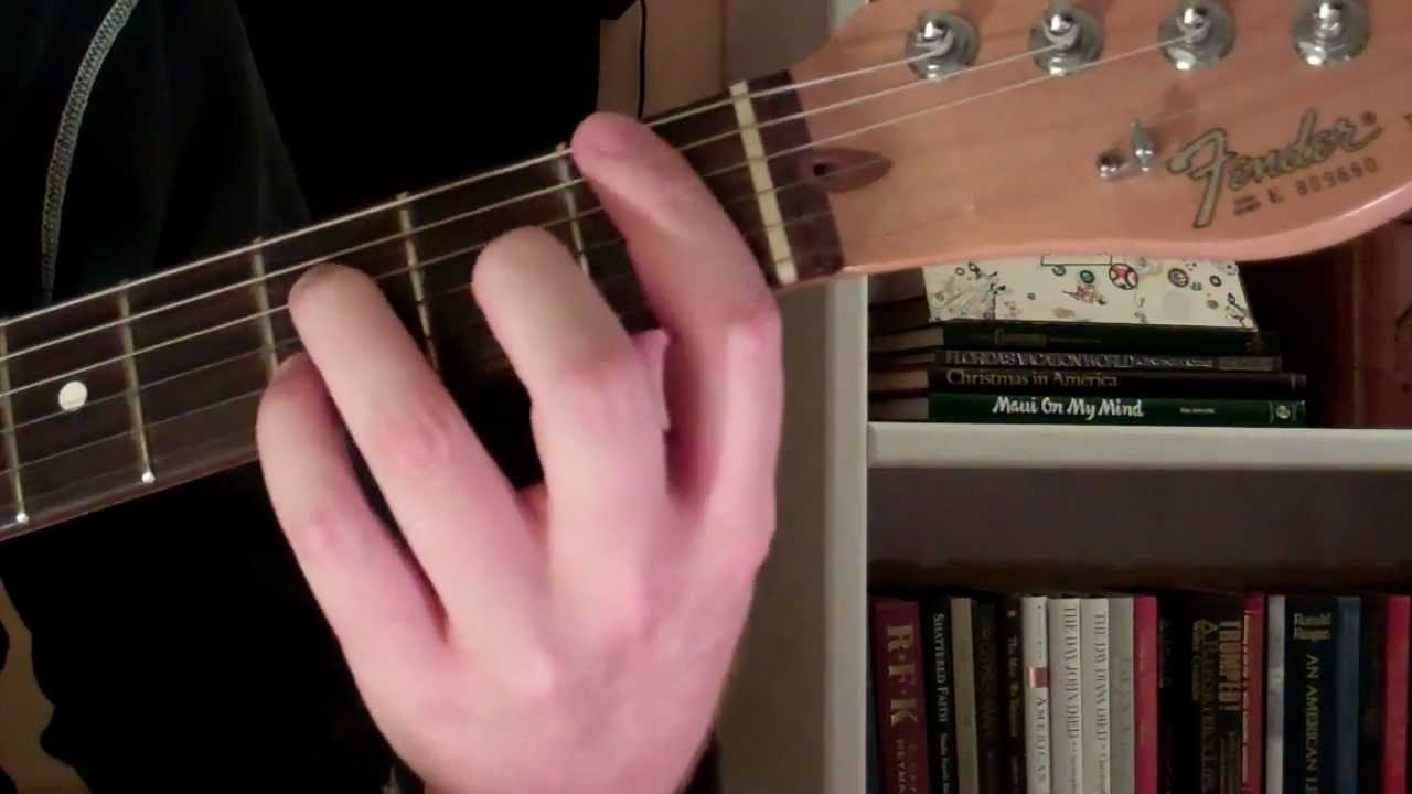 How To Play The Bb7 Chord On Guitar B Flat Seventh 7th Youtube