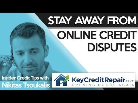 Key Credit Repair: Stay Away From Online Credit Disputes