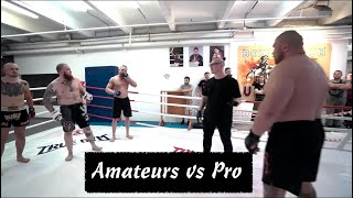 3 Amateurs Challenge 1 Professional In Hilarious MMA Match