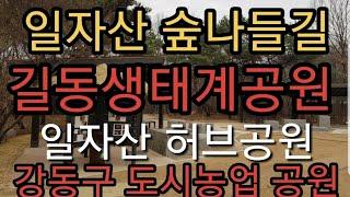 서울걷기모음(강동) 아차산숲나들길 길동생태계공원 허브천…