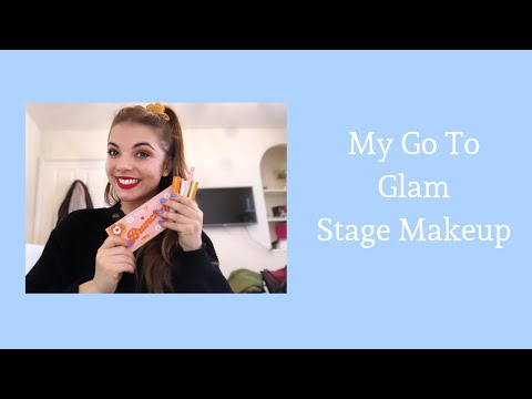 My Go To Glam Stage Makeup || Tutorial thumbnail