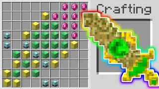 Minecraft: HOW TO CRAFT A *LEGENDARY* 1,000,000 DOLLAR  SWORD IN MINECRAFT!!!