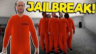 I Started a Jailbreak with a Prisoner Army! - Jailbreak Simulator Gameplay