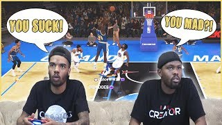 He's Mad! MAJOR Crap Talk Breaks Out When Things Get Heated! - NBA2K19 MyTeam Battles Ep.2