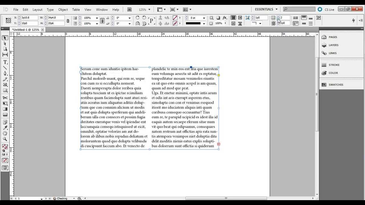 InDesign CS23 Tutorial: Easy way to make columns of text