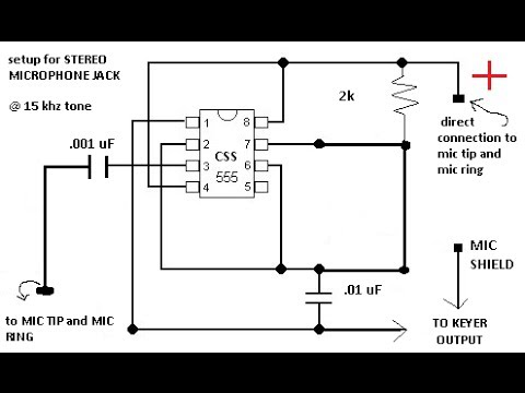 code practice oscillator powered only by mic jack voltage of sound card