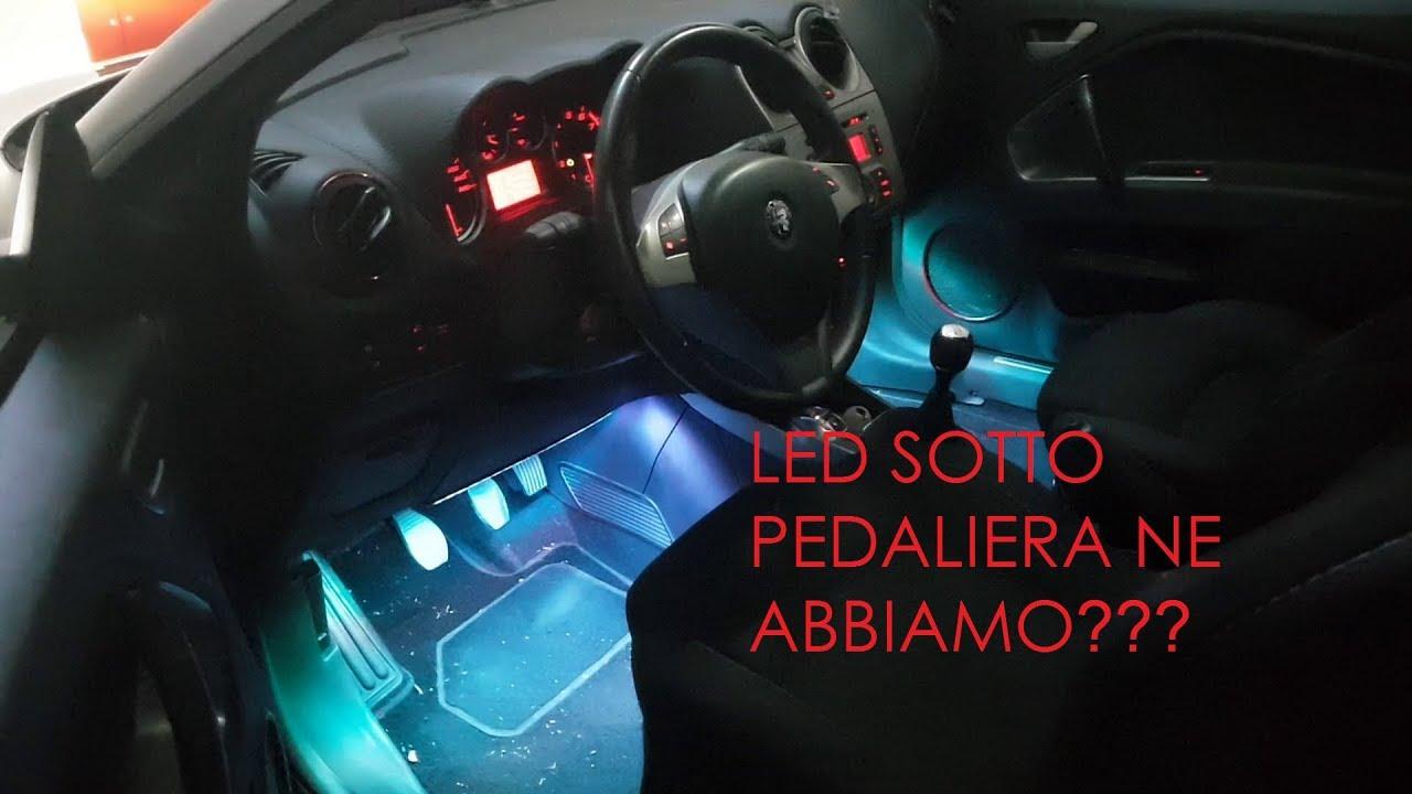 Strisce Led Per Auto Interni.Montaggio Strip Led Pedaliera E Sotto Sedili Alfa Romeo Mito