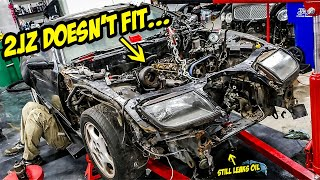 installing-a-cheap-2jz-gte-and-it-doesn-t-fit-and-leaks-a-ton-of-oil