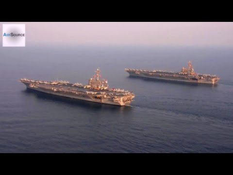 USS Carl Vinson & USS George H.W. Bush in the Arabian Gulf